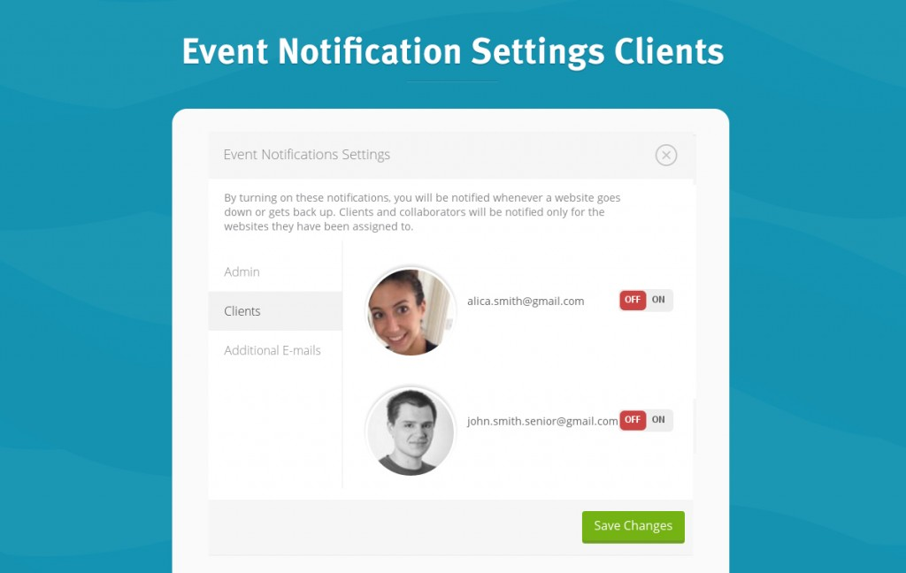 Event NotificationSettignsClients