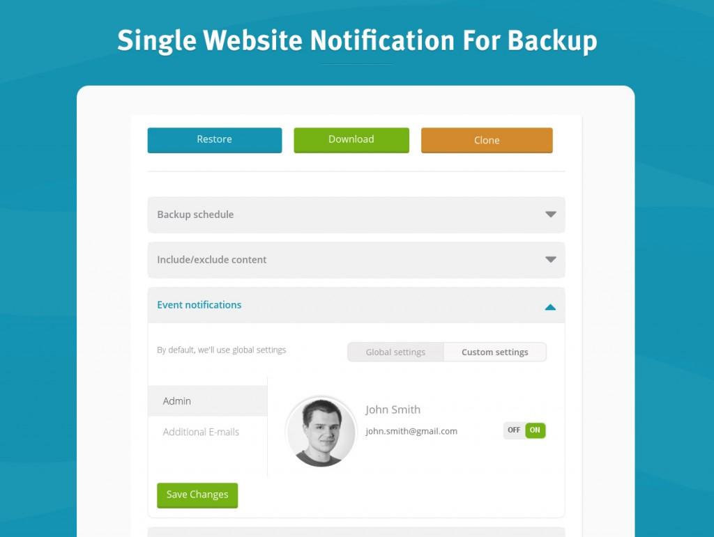 SingleWebsiteNotificationForBackup