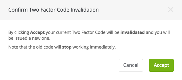 confirm switch to new two factor