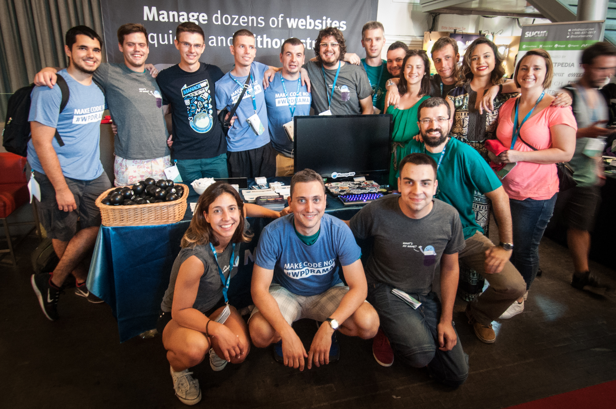 ManageWP crew at WordCamp Europe 2016