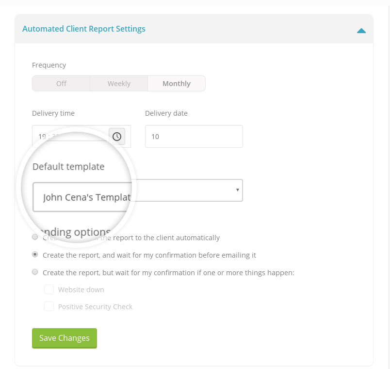 Automated Client Report