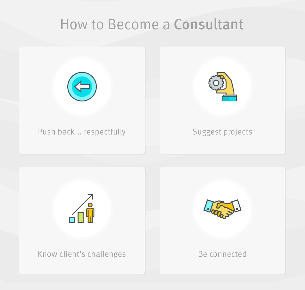 How to Become A Consultant For Your Clients graphic