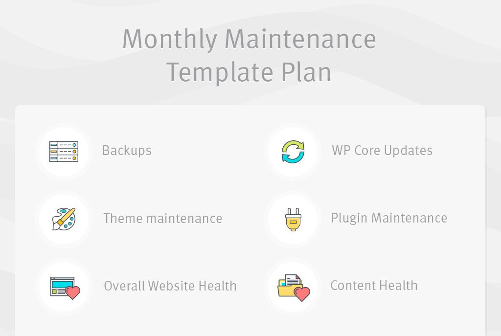 Monthly Maintenance Plan
