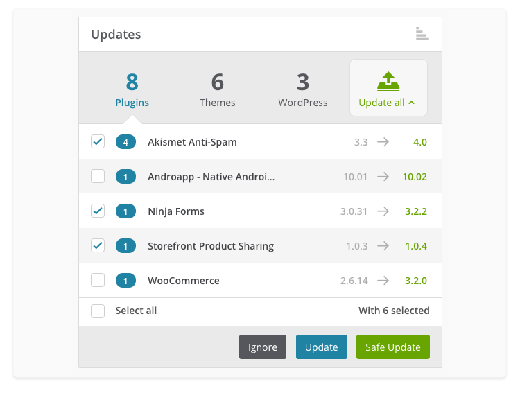 How to use Safe Updates for updating your WordPress core, pl