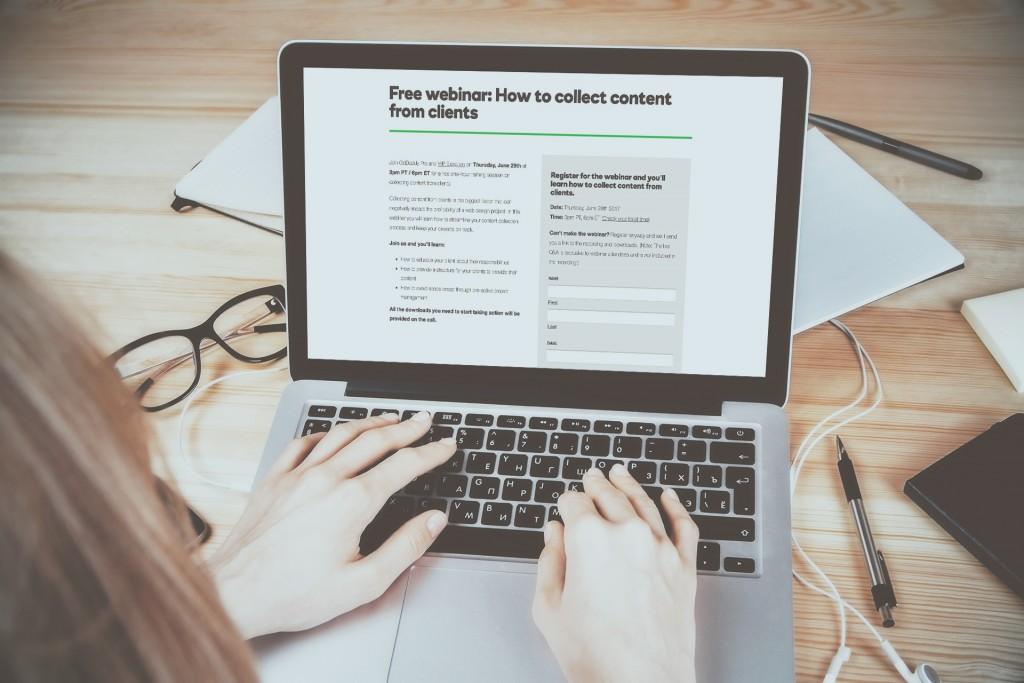 webinar clients content