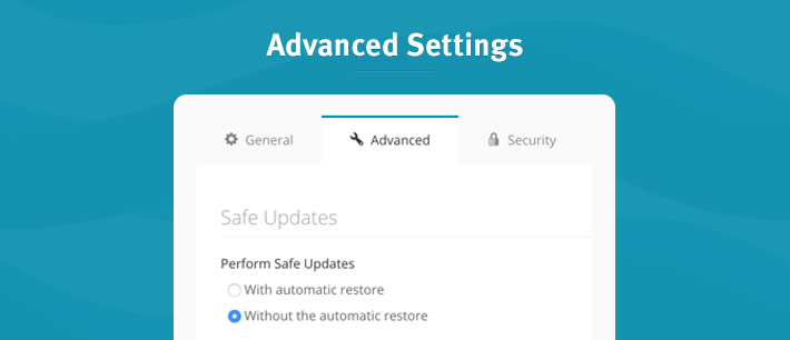 Safe Updates automatic restore