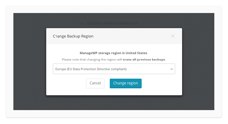 change-backup-region