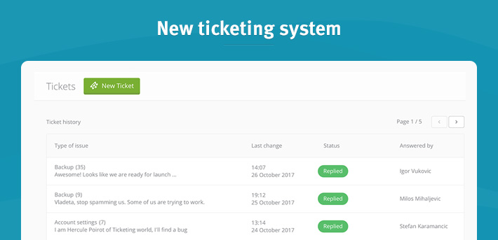 new ticketing system