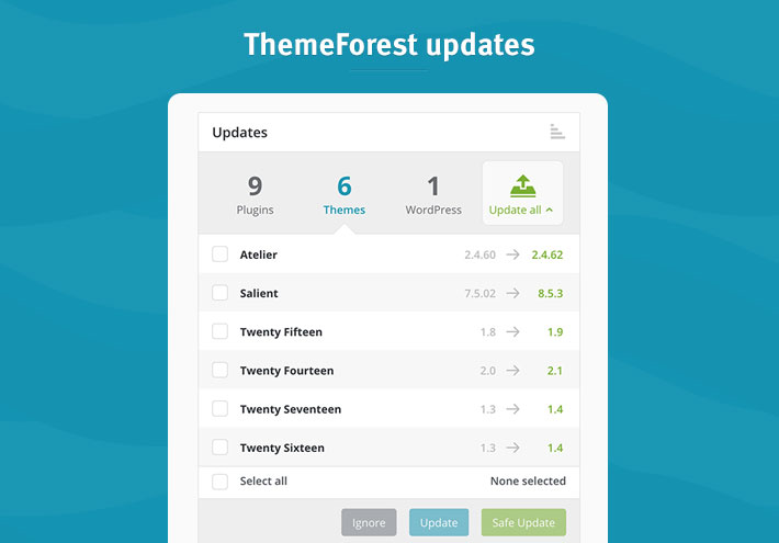 ThemeForest updates