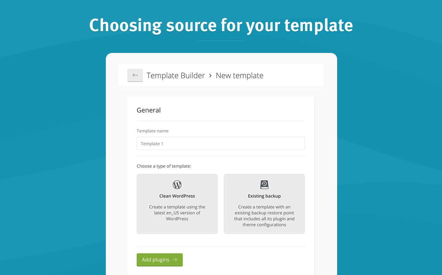 speed up website deployment with template builder managewp