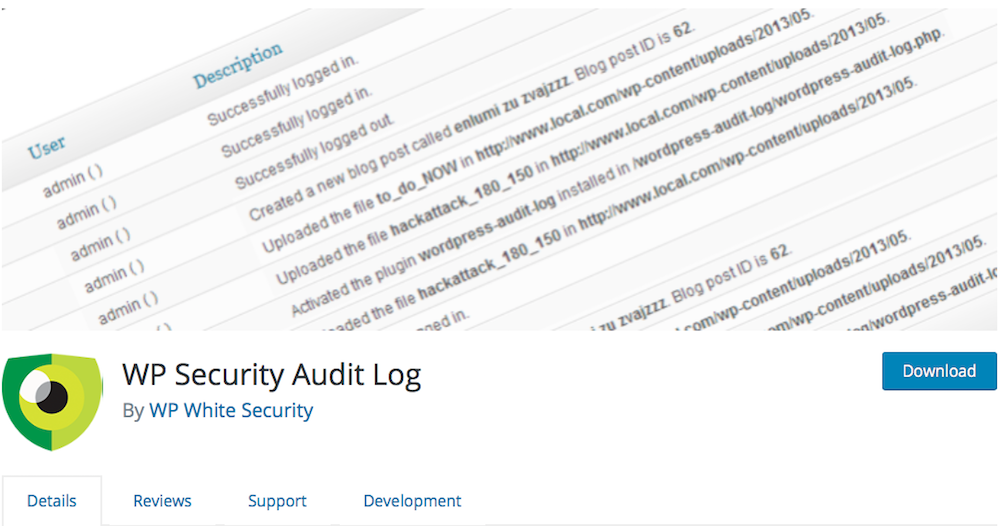WP Audit Security Log