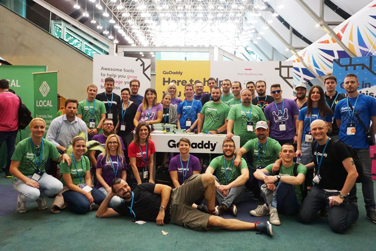 GoDaddy Team at WCEU 2018
