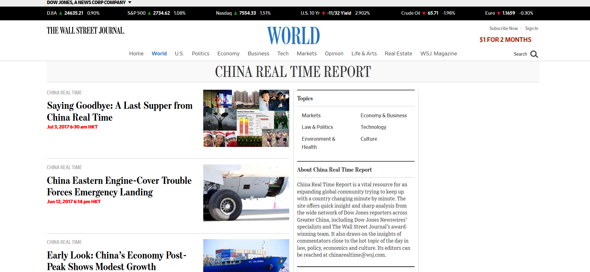 WordPress Multisite Example - China Real Time Report