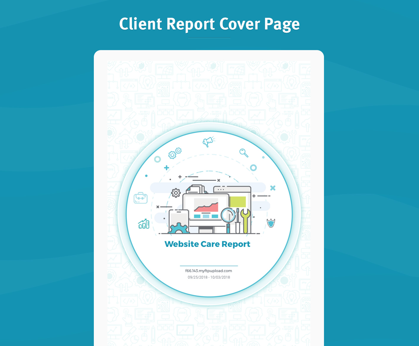 Client Report Cover Page
