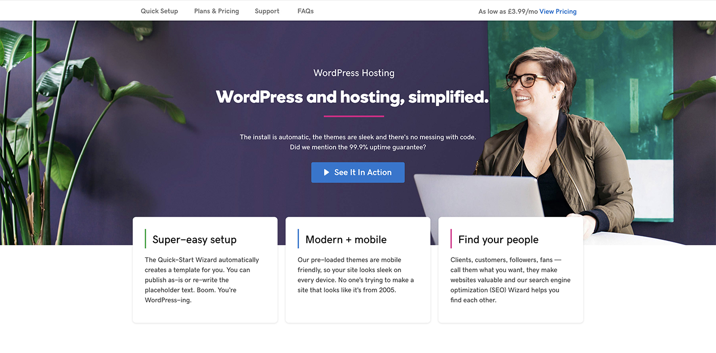 WordPress hosting - GoDaddy
