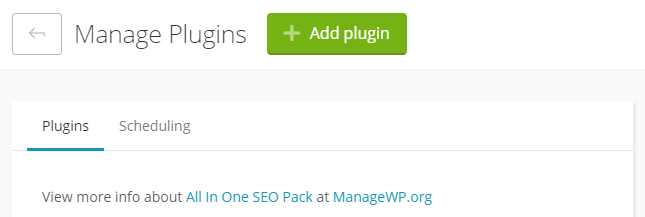 Adding more plugins to your sites.