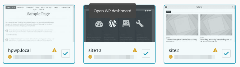 Using one-click login to open your dashboard.