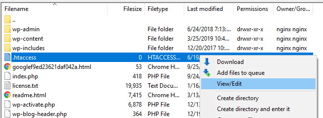 Editing your htaccess file.