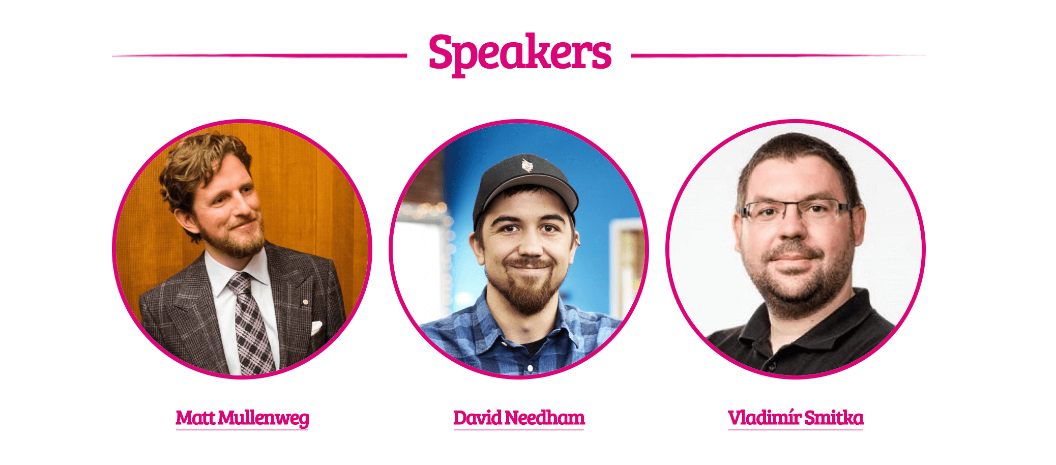 The Speakers page for WordCamp Europe 2019.