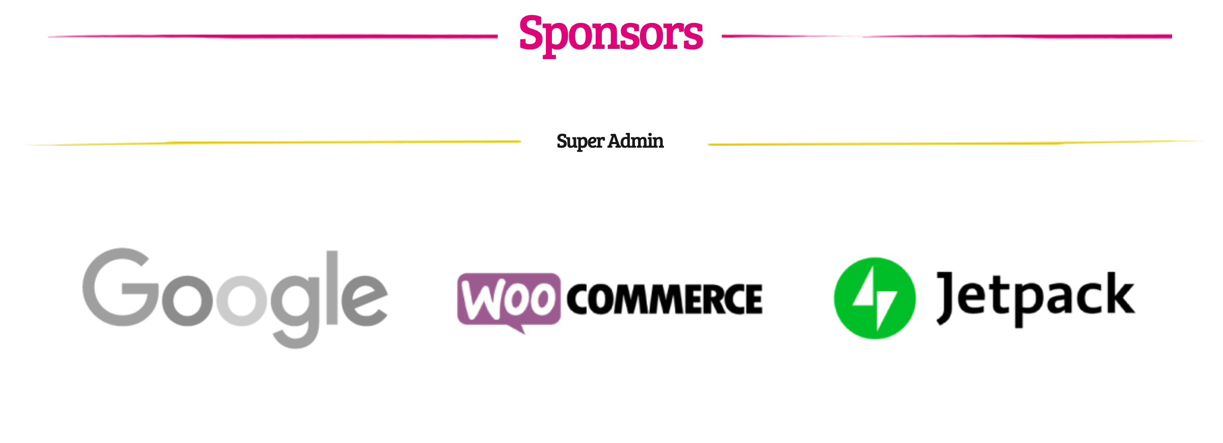 The Sponsors page for WordCamp Europe 2019.