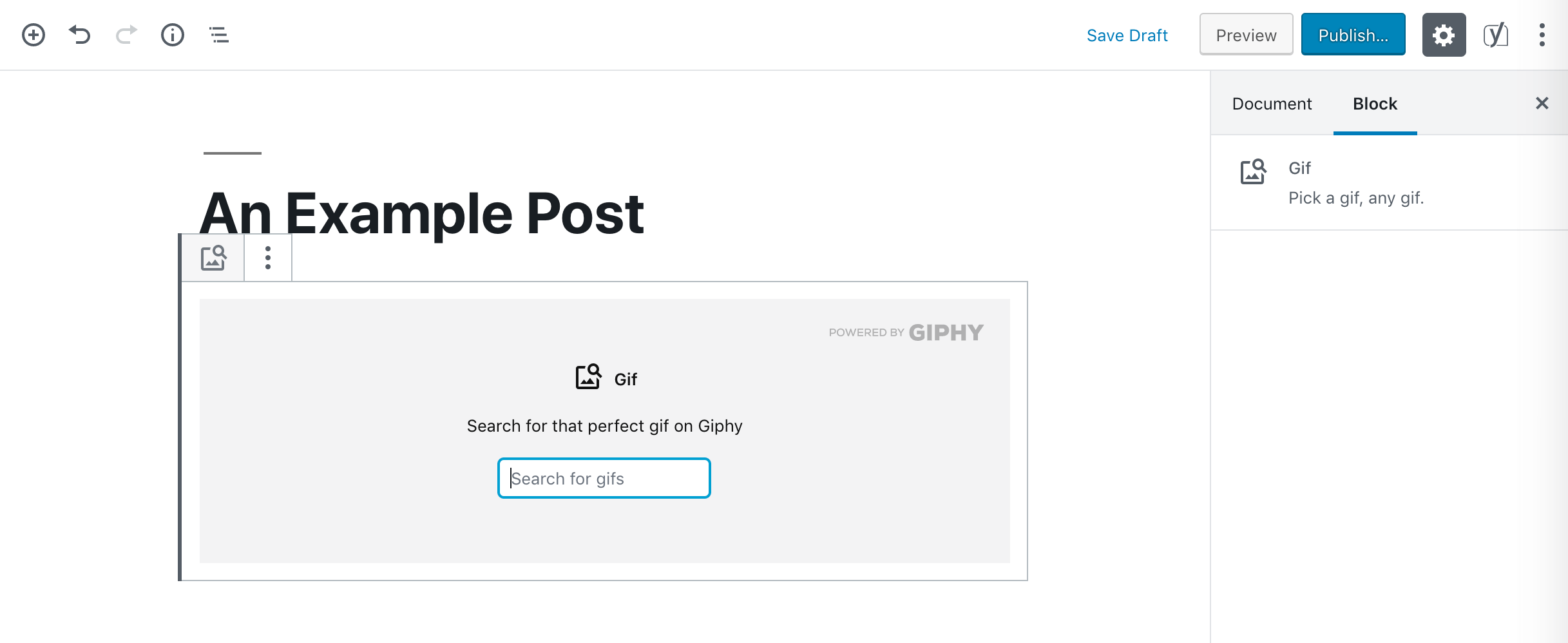 A GIF block.