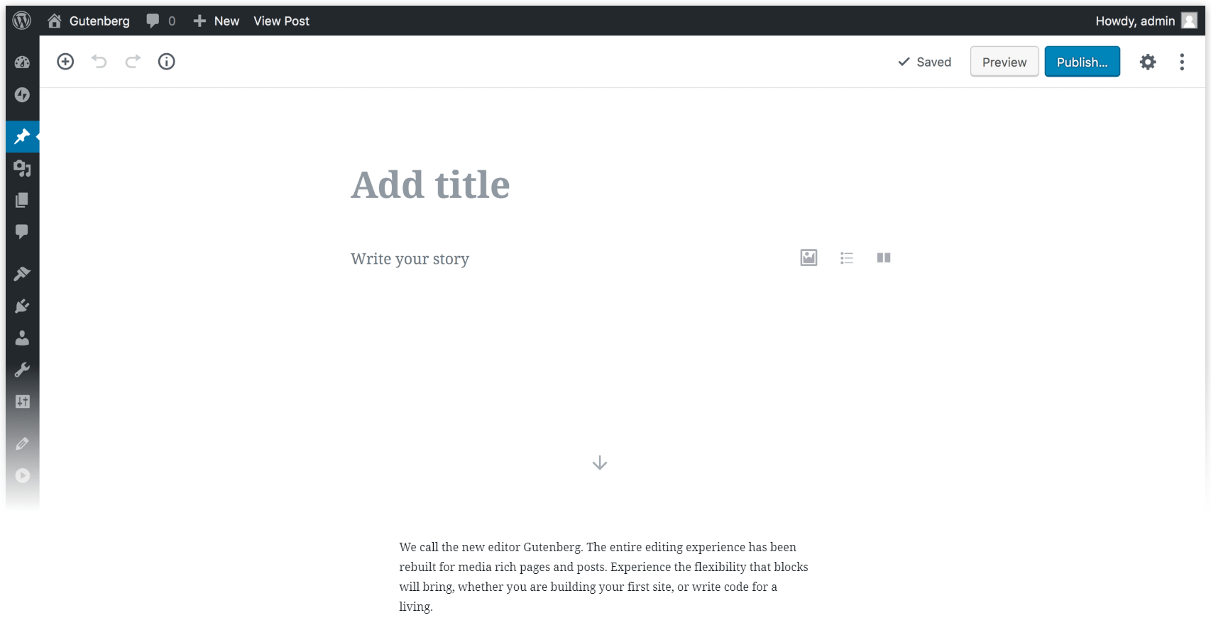 The WordPress Block Editor.
