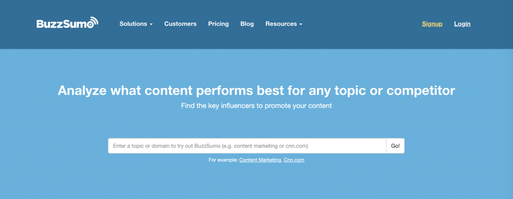 The BuzzSumo Content Analyzer.