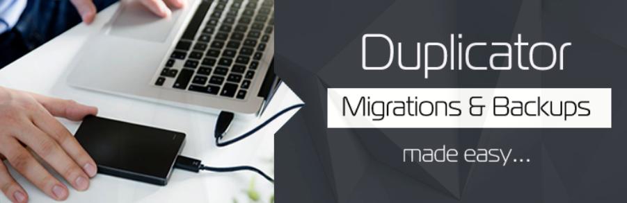 The Duplicator plugin for WordPress.