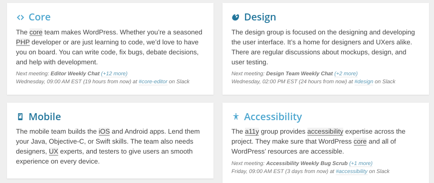 Make WordPress project categories.