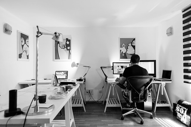 web designer home office