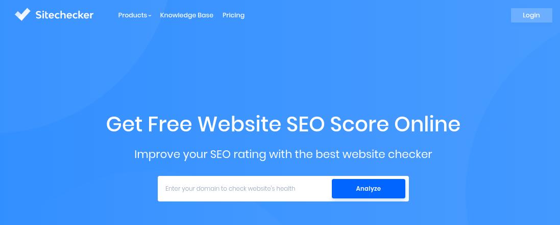 The Sitechecker website homepage.
