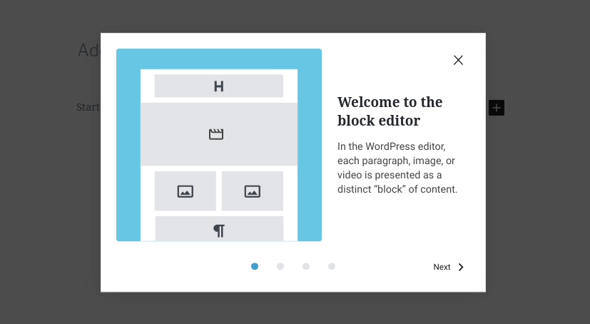 The WordPress 5.4 Block Editor Welcome Guide.