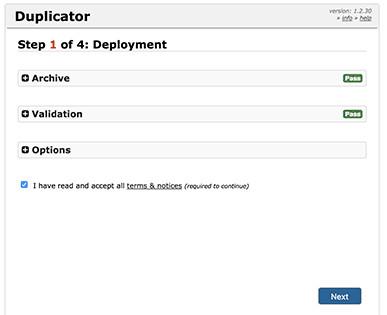 The Duplicator installer.