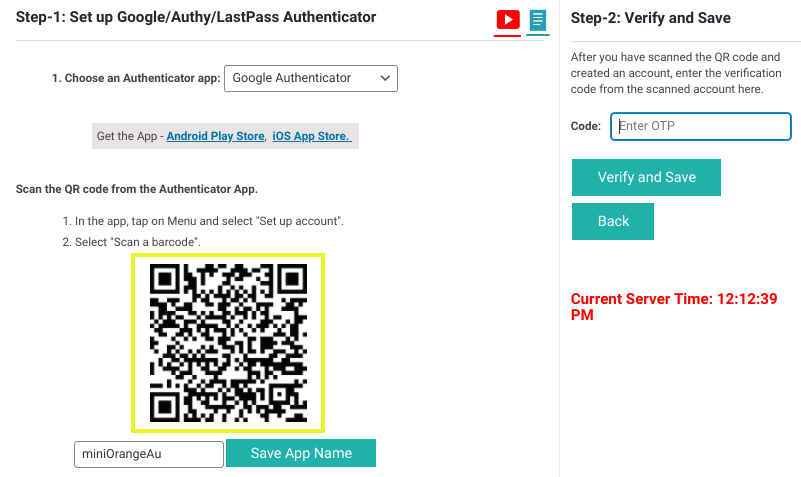 The QR Code to scan in the Google Authenticator WordPress plugin.