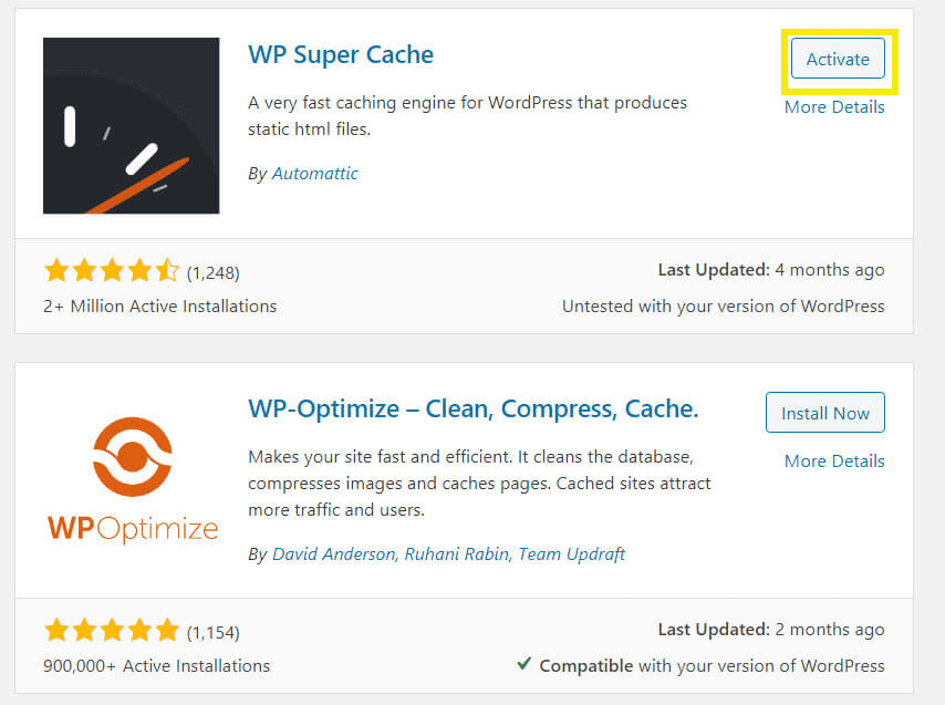 The WP Super Cache plugin.