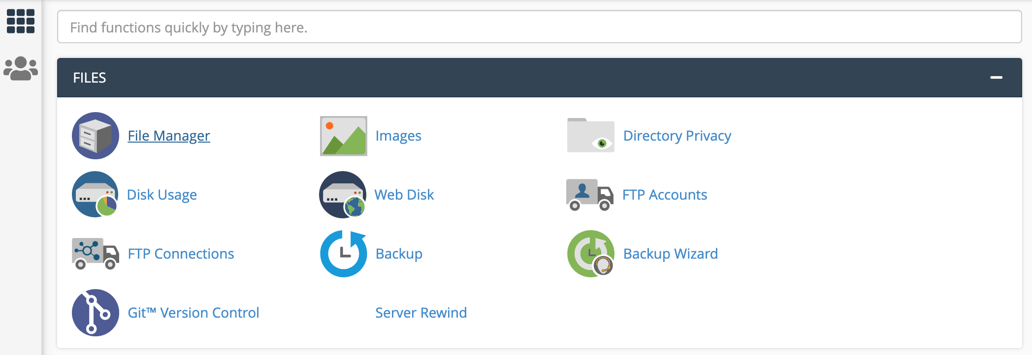cPanel's file manager.