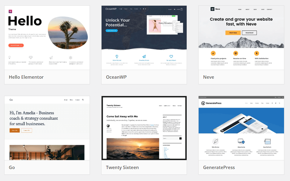 The WordPress Theme Directory.