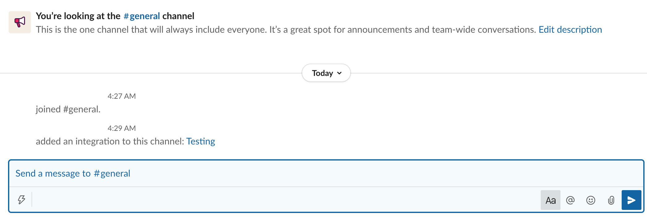 Slack notifications posted in the Slack communication platform.