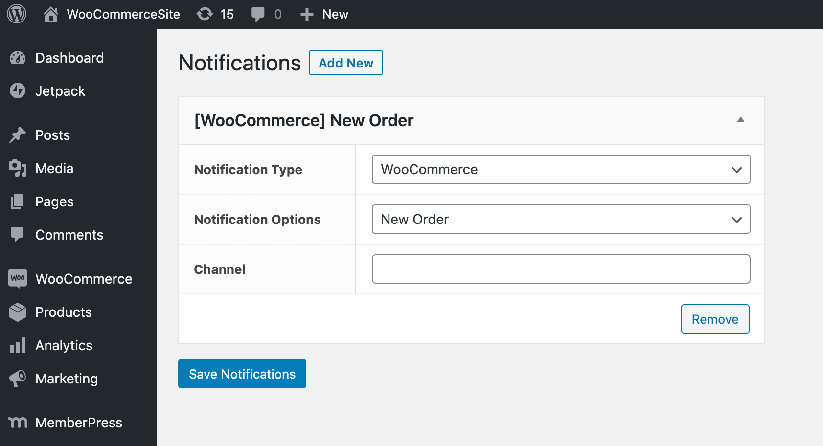 Creating a Slack notification for your WordPress website.