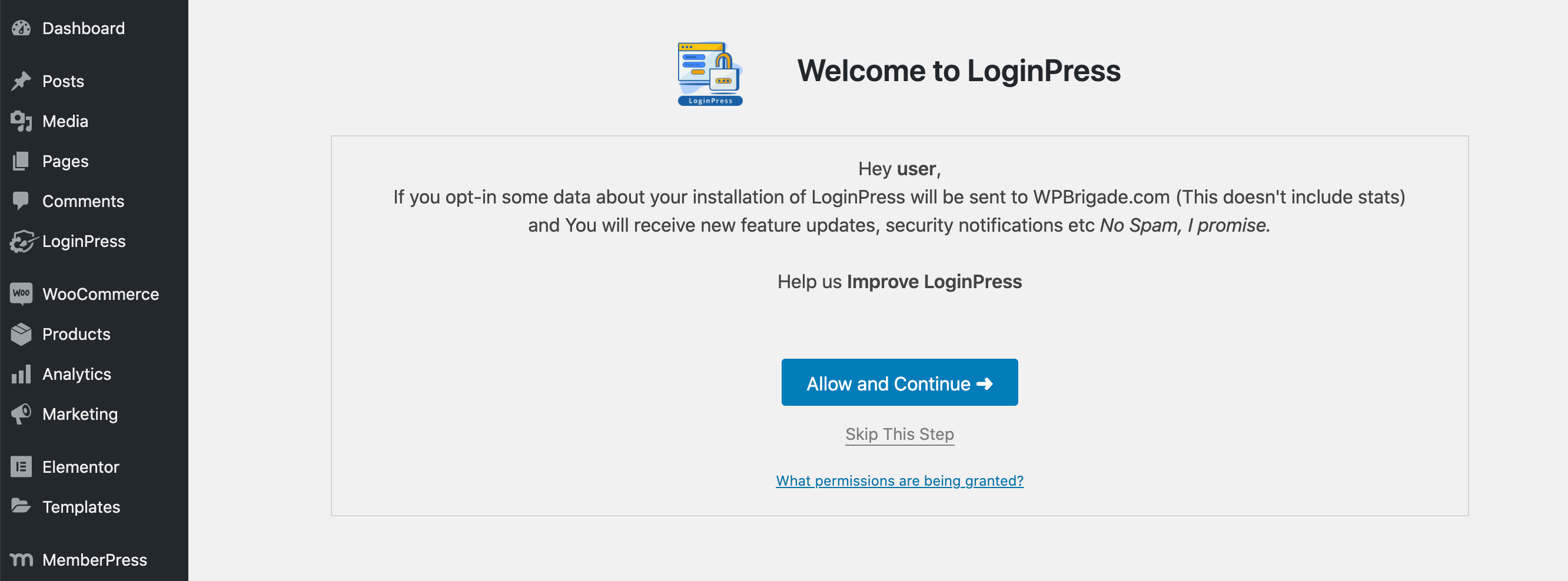 The LoginPress WordPress plugin.
