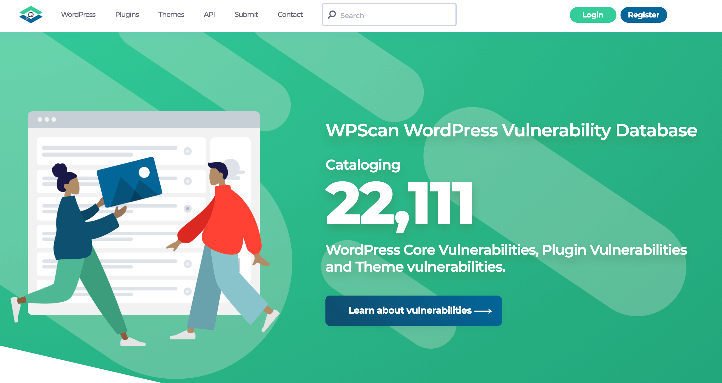 The WPScan vulnerability exploits database.