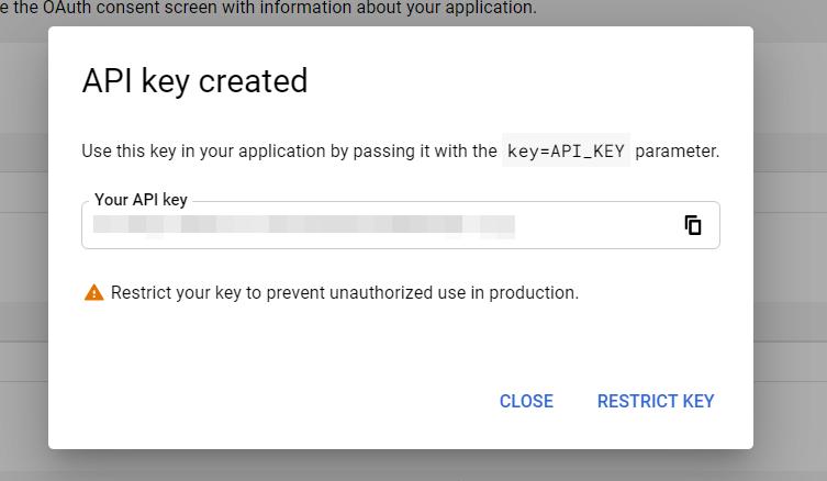 An example API key.