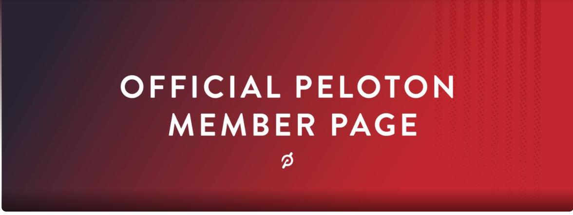 The Peloton online community.