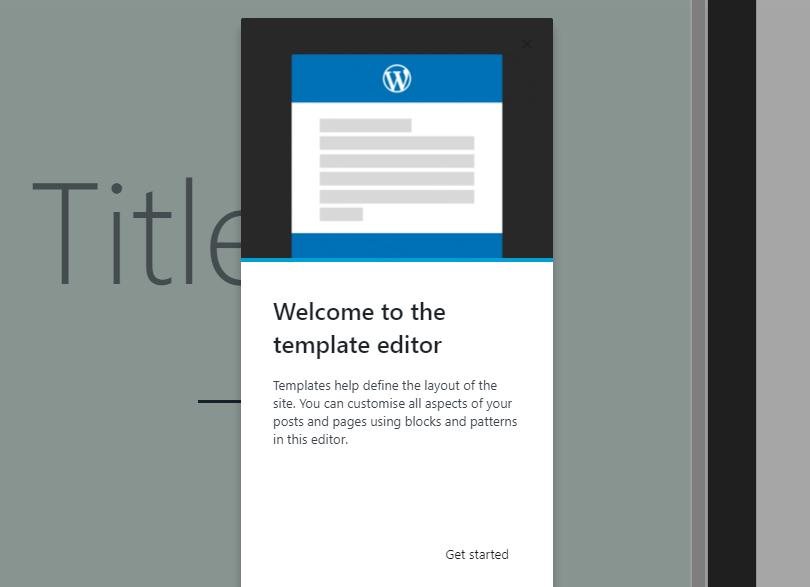 The WordPress template editor